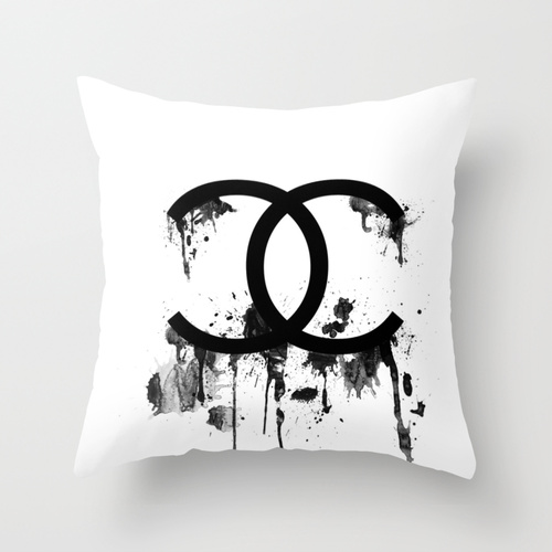 chanel splatter pillow studio 6