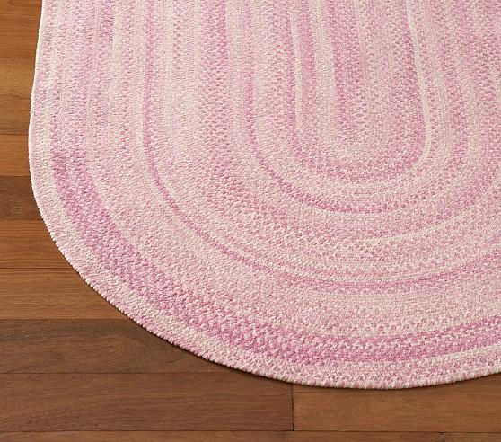 Pottery Barn braided, chenille rug