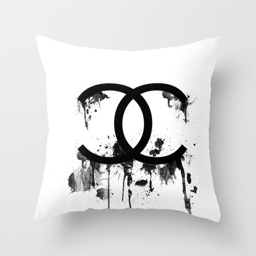 chanel splatter pillow studio 6