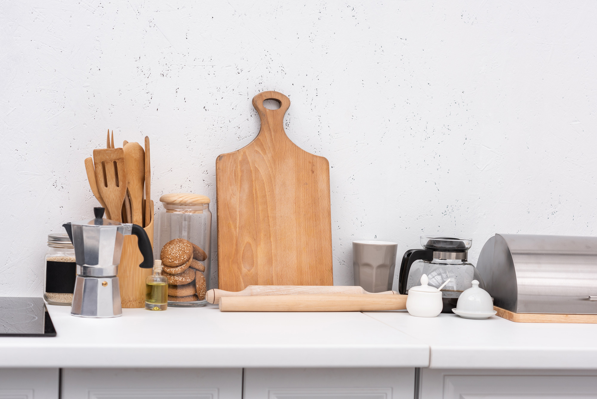 wooden kitchenware on table